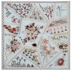 857 - Crazy Quilt Pillow
